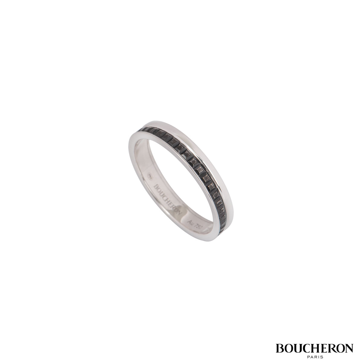 Boucheron White Gold Quatre Black Edition Wedding Band JAL00206